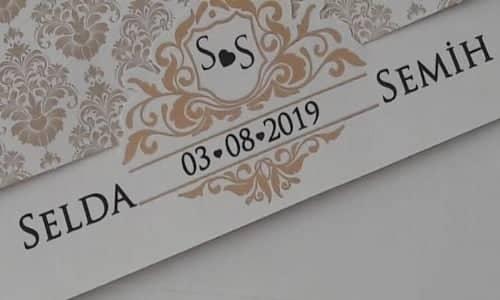 Selda & Semih Evleniyor ( DAVETİYE)