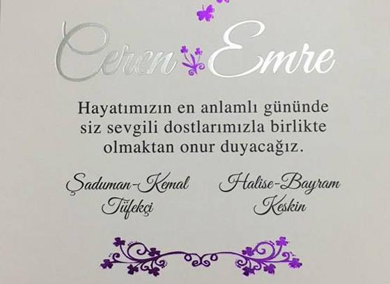 Ceren & Emre Evleniyor (DAVETİYE)