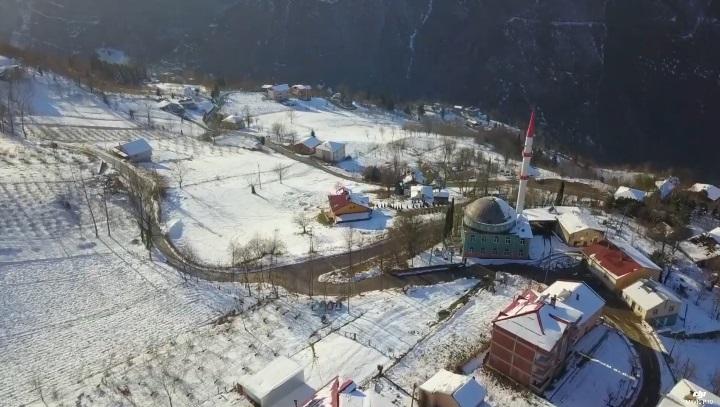 Yukarıköy'den Kar Manzaraları (VİDEO)