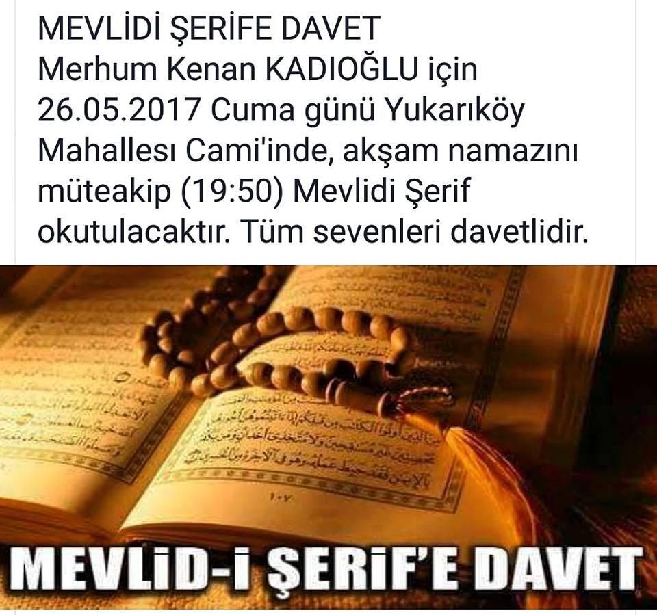 MEVLİDİ ŞERİFE DAVET