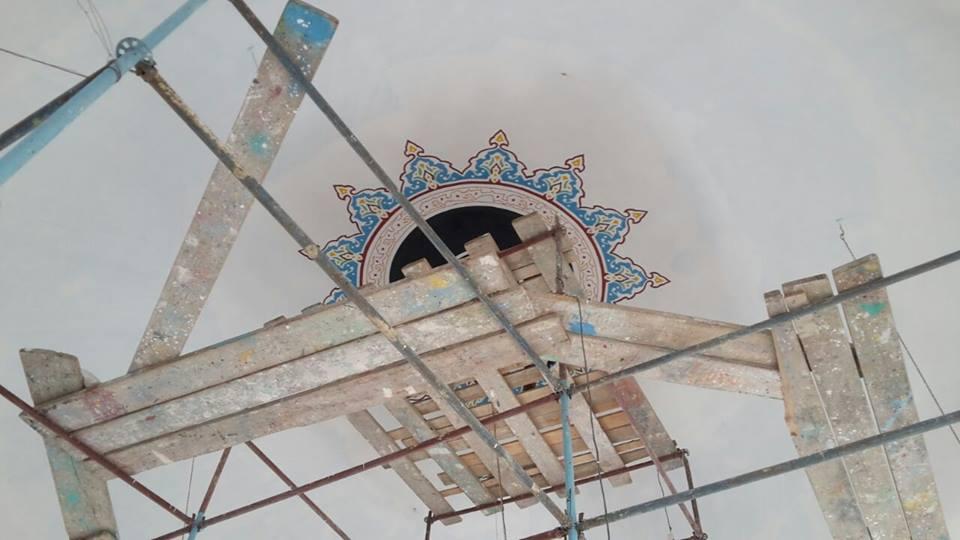 Yukarıköy'de Cami Süsleme Çalışması