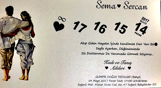 Sema & Sercan Evleniyor (DAVETİYE)