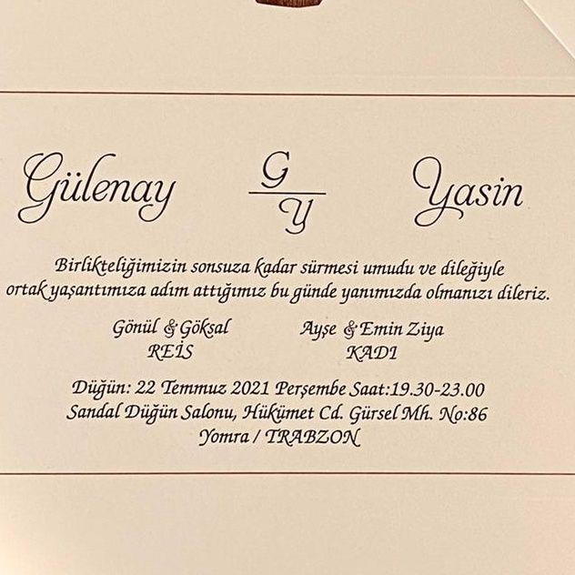 Gülenay & Yasin Evleniyor (DAVETİYE)