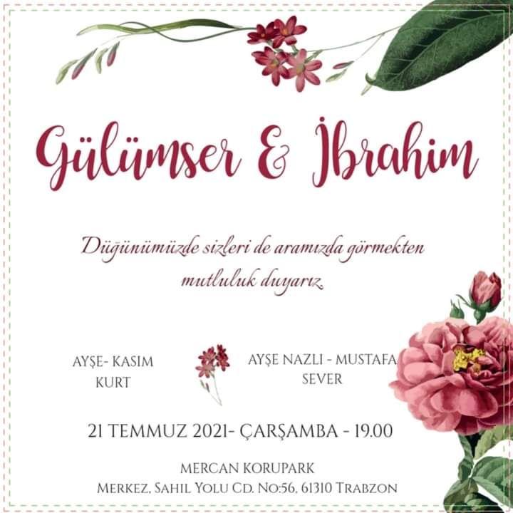Gülümser & İbrahim Evleniyor (DAVETİYE)