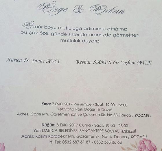Özge & Orkun Evleniyor (DAVETİYE)