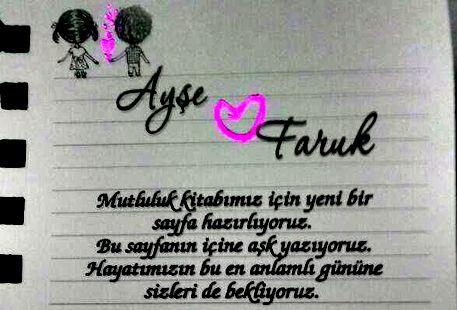 Ay�e & Faruk Evleniyor (DAVET�YE)