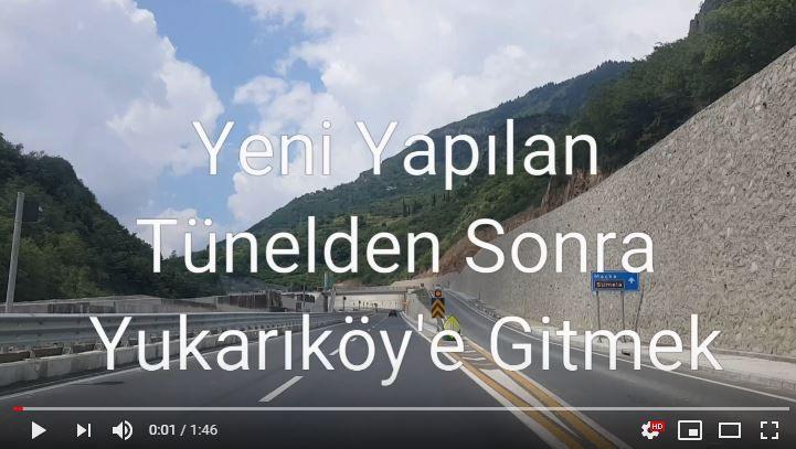 Yeni Yapılan Tünelden Sonra Yukarıköy'e Gitmek (VİDEO)