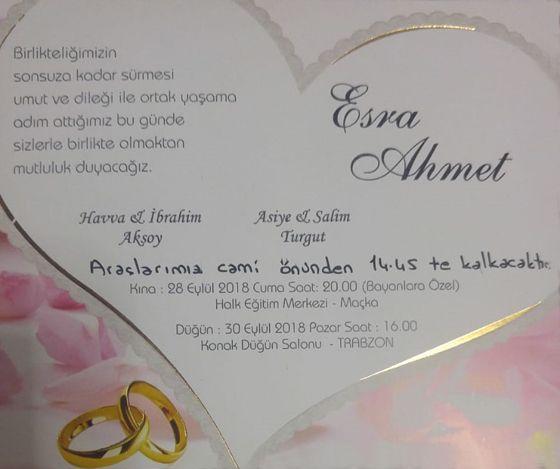 Esra & Ahmet Evleniyor (DAVETİYE)