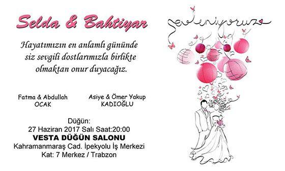 Selda & Bahtiyar Evleniyor ( DAVETİYE)