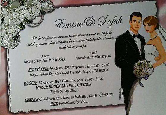Emine & Şafak Evleniyor (DAVETİYE)